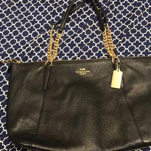 Black chain Coach purse
